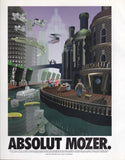 "1996 Absolut Vodka Ad ""Jordan Mozer Architecture Art""-Original-Stills Of Time"