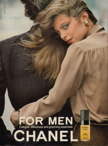 "1980 Chanel Men's Cologne Ad ""Blonde Babe""-Original-Stills Of Time"