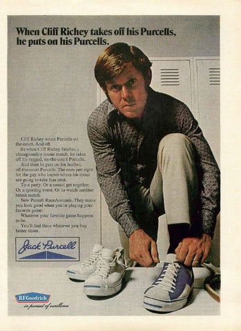 "1972 Jack Purcell Tennis Shoes Ad ""Cliff Richey""-Original-Stills Of Time"