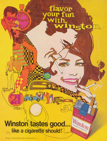 "1968 Winston Cigarette Ad ""Psychedelic Car Rally""-Original-Stills Of Time"