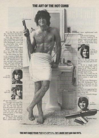 "1972 Remington Hot Comb Ad ""Funny Hair""-Original-Stills Of Time"