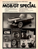 "1967 MGB GT Special Car Ad ""Anniversary""-Original-Stills Of Time"