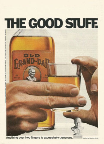 "1971 Old Grand Dad Kentucky Bourbon Ad ""2 Fingers""-Original-Stills Of Time"