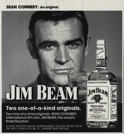 "1974 Jim Beam Bourbon Ad ""Sean Connery""-Original-Stills Of Time"
