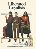 "1970 Ballantine Scotch Ad ""Liberated Loyalists""-Original-Stills Of Time"