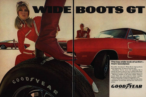 "1969 Goodyear Tires Ad ""Dodge Charger""-Original-Stills Of Time"