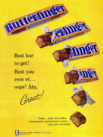 "1960 Butterfinger Candy Ad ""Best Bar""-Original-Stills Of Time"