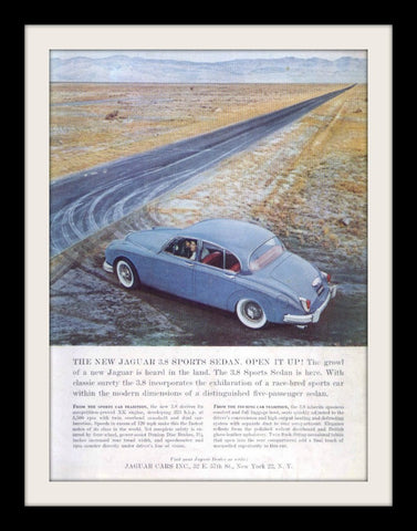 1960 Jaguar 3.8 Sports Sedan Car Ad-Original-Stills Of Time