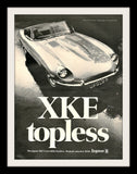 "1969 JAGUAR XKE Roadster Car Ad ""Topless""-Original-Stills Of Time"