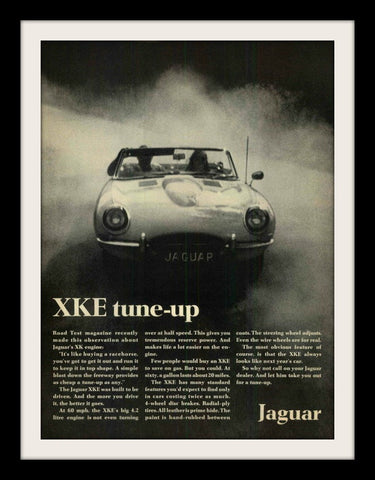 "1968 JAGUAR XKE Car Ad ""Tune Up""-Original-Stills Of Time"