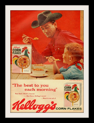 "1960 Kellogg's Corn Flakes Cereal Ad ""Father & Son""-Original-Stills Of Time"