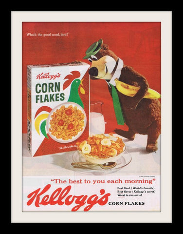 "1961 Kellogg's Corn Flakes Cereal Ad ""Yogi Bear""-Original-Stills Of Time"