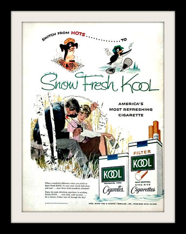 "1958 Kool Cigarettes Ad ""Bird Watching""-Original-Stills Of Time"