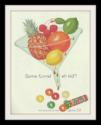 "1960 Lifesavers & Fruits Candy Ad ""Funnel""-Original-Stills Of Time"