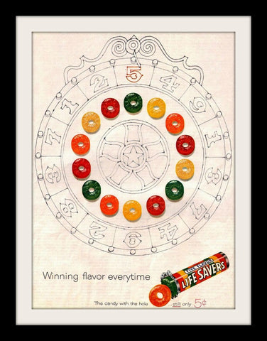 "1960 Lifesavers Candy Ad ""Winning Wheel""-Original-Stills Of Time"