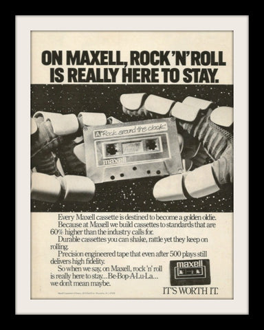 "1982 Maxell Audio Cassette Ad ""Rock N Roll""-Original-Stills Of Time"