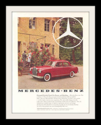 1960 Mercedes Benz 190 Car Ad-Original-Stills Of Time