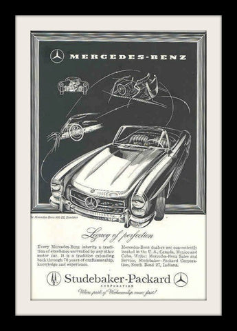 1958 Mercedes Benz 300SL Roadster Car Ad-Original-Stills Of Time