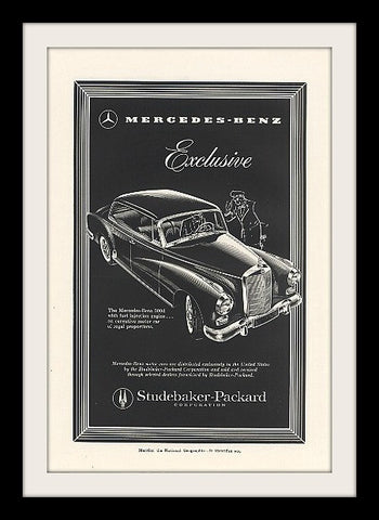 "1958 Mercedes Benz 300D Car Ad ""Exclusive""-Original-Stills Of Time"