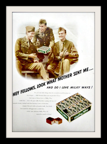 "1943 Milky Way Candy Ad ""US Navy Military""-Original-Stills Of Time"