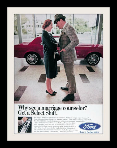 "1967 Ford Mustang Car Ad ""Marriage Counselor""-Original-Stills Of Time"