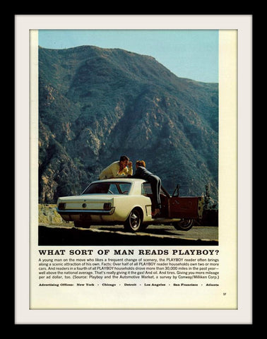 "1965 Playboy Magazine Ad ""Ford Mustang""-Original-Stills Of Time"