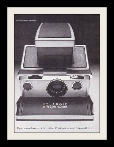 "1974 Polaroid SX-70 Land Camera Ad ""Christmas""-Original-Stills Of Time"