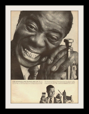 "1958 Polaroid Land Camera Ad ""Louis Armstrong""-Original-Stills Of Time"