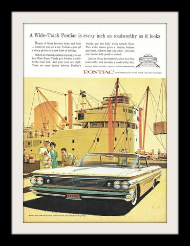 "1960 Pontiac Bonneville Car Ad ""Ship""-Original-Stills Of Time"