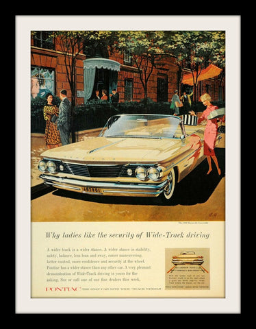 "1960 Pontiac Bonneville Car Ad ""Stability""-Original-Stills Of Time"