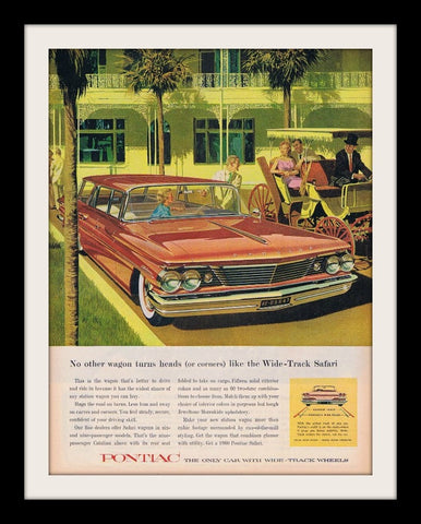 1960 Pontiac Safari Station Wagon Car Ad-Original-Stills Of Time