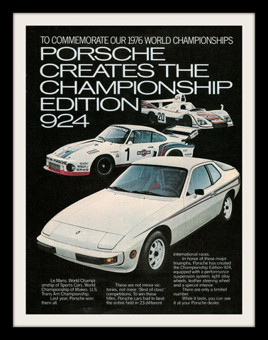 "1977 Porsche 924 Racing Car Ad ""Le Mans""-Original-Stills Of Time"