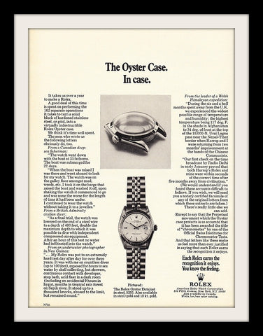 "1971 Rolex Oyster Watch Ad ""Case""-Original-Stills Of Time"