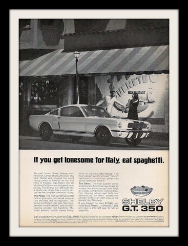 "1966 Shelby Mustang GT 350 Ad ""Spaghetti""-Original-Stills Of Time"