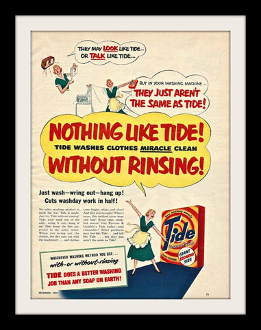 "1950 Tide Laundry Detergent Ad ""Miracle""-Original-Stills Of Time"