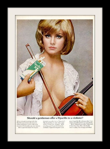 "1967 Tiparillo Cigar Ad ""Woman Violinist""-Original-Stills Of Time"