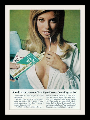 "1968 Tiparillo Cigar Ad ""Dental Hygienist""-Original-Stills Of Time"