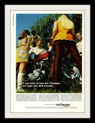 "1969 Triumph Motorcycle Ad ""Crowds""-Original-Stills Of Time"