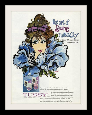 "1960 TUSSY Beauty Cream Ad ""Art of Dewing""-Original-Stills Of Time"