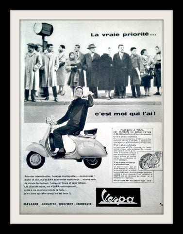 "1958 VESPA Scooter Ad ""C'est Moi""-Original-Stills Of Time"