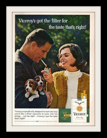 "1965 Viceroy Cigarettes Ad ""Beagle Puppies""-Original-Stills Of Time"