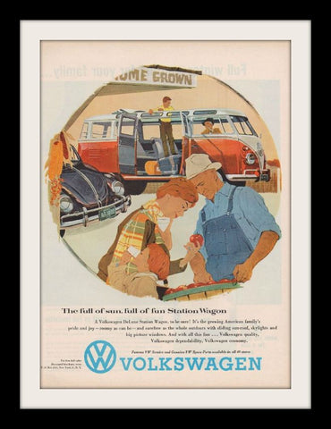 1959 Volkswagen Bus & Beetle Ad-Original-Stills Of Time