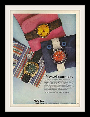"1970 Wyler Incaflex Watch Ad ""Pale Is Out""-Original-Stills Of Time"
