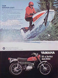1970 Yamaha Enduro & Snowmobile Motorcycle Ad-Original-Stills Of Time