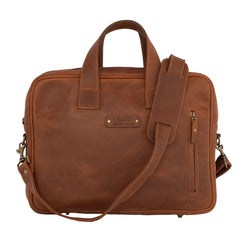 Haku briefcase leather