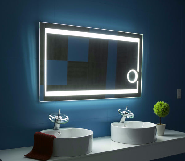 "Dimmable Aurora 48""x28"" Illuminated Mirror by Paris Mirror"