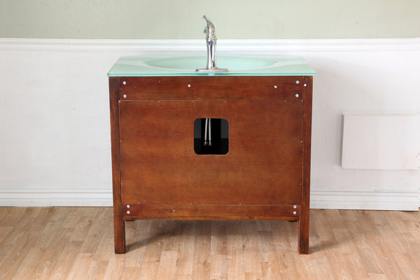 Bellaterra Home Walnut Single Sink Vanity