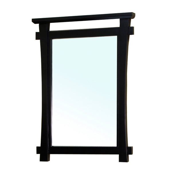 Bellaterra Home Solid Wood Frame Mirror - Black