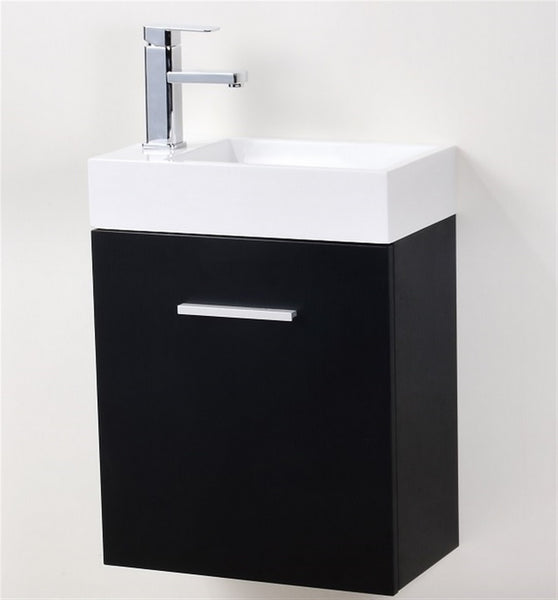 "Bliss 18"" Wall Mount Bathroom Vanity by KubeBath"