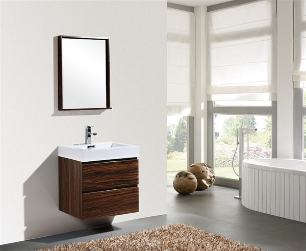 "Bliss 24"" Wall Mount Bathroom Vanity by KubeBath"